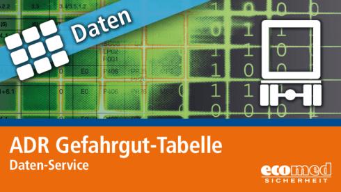 ADR Gefahrgut-Tabelle - Daten-Service | Datenservice
